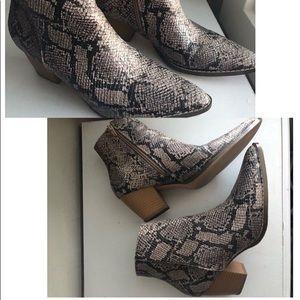 Matisse Snakeskin Booties